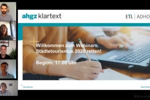 dwif: Online-Vortrag-Mitschnitt: Städtetourismus 2020 retten! (Bild: www.ahgz.de)