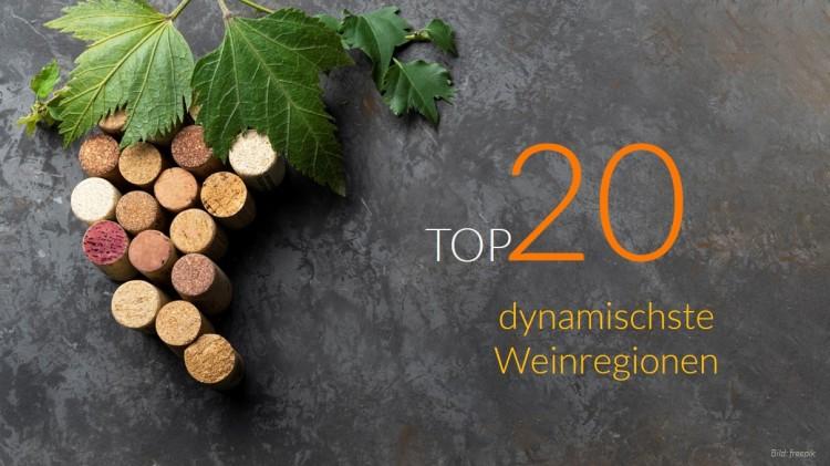 dwif & MANOVA: WEBMARK-Ranking TOP-20 Weinregionen (Bild: freepik)