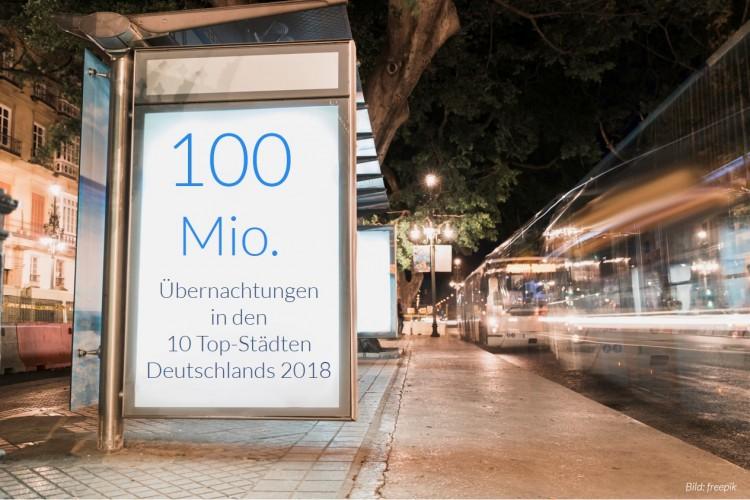dwif Zahl der Woche: 100 Mio. Übernachtungen in den 10 Top-Städten Deutschlands (Bild: freepik)