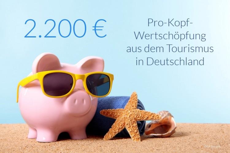 dwif Zahl der Woche: 2.200 Euro Pro-Kopf-Wertschöpfung aus dem Tourismus (Bild: freepik)